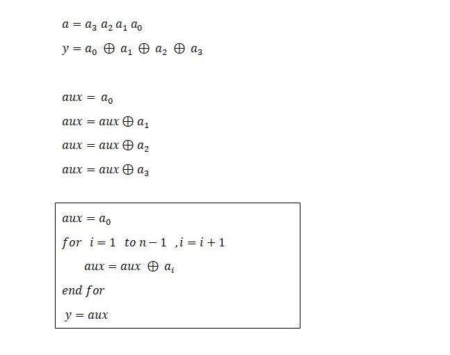 Lección 3.V21. Árbol de paridad genérico.