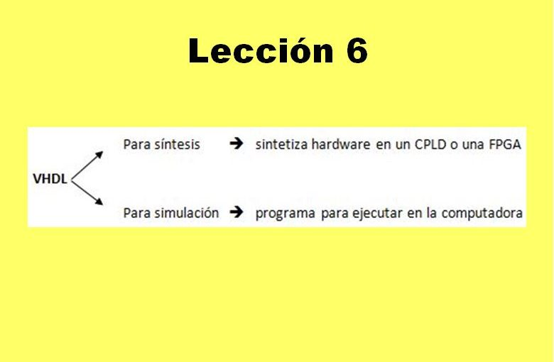 Lección 6.V26. VHDL para síntesis y para simulación.