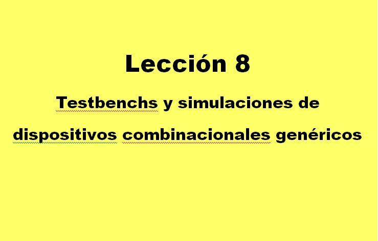 Lección 8.V30.3. Testbench de un multiplexor genérico con entrada de habilitación.