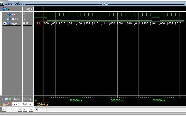 Lección 11.V63. Testbench y simulación del contador sincrónico, con reset sincrónico.