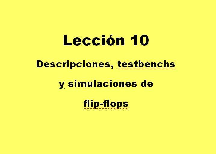 Lección 10.V50. Descripción de un flip-flop D.