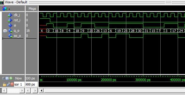 Lección 13. V79. Testbench y simulación del generador de secuencia pseudo-aleatoria de 5 bits.