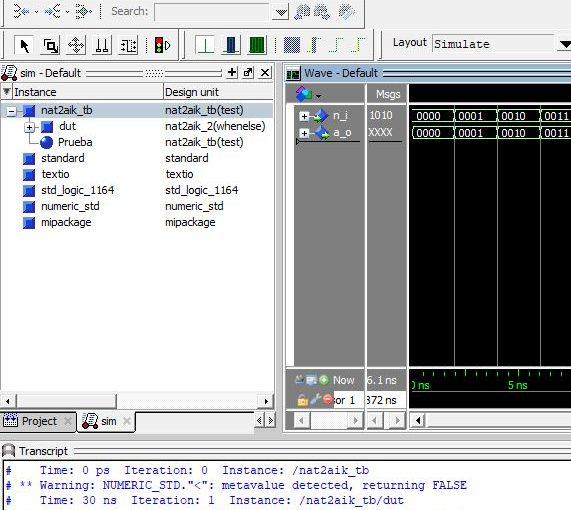 Lección 17.V118. Declarando una función en  un package y compilando todo con GHDL y con ModelSim.