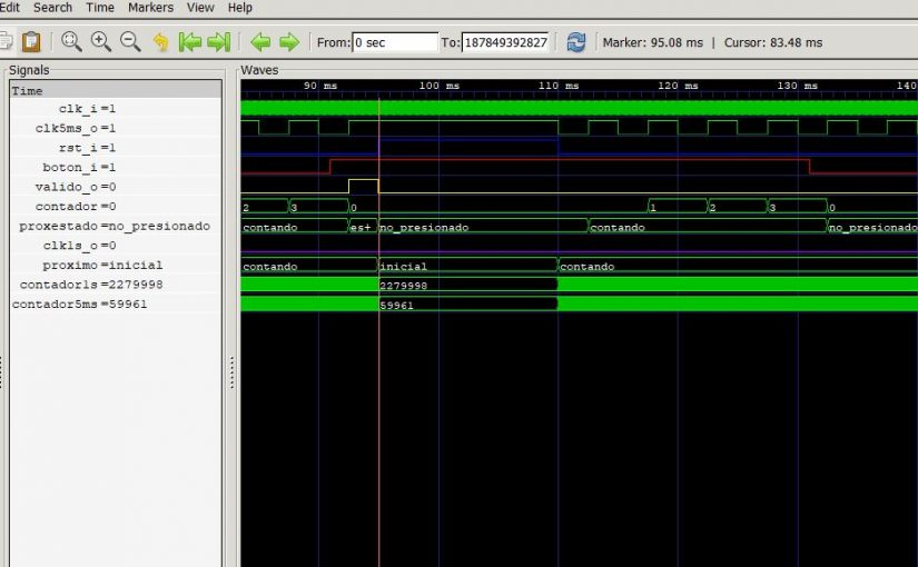 Lección 18.V123. Testbench del 1er. bloque del sumador serie. Análisis de la simulación.